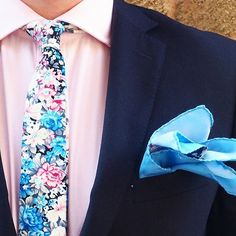 Floral season is upon us and we couldn't be getting enough of it! Wedding Men, Wedding Suits, Wedding Attire, Wedding Stuff, Wedding Ideas, Ootd Fashion, Mens Fashion, Man Outfit, Designer Suits For Men