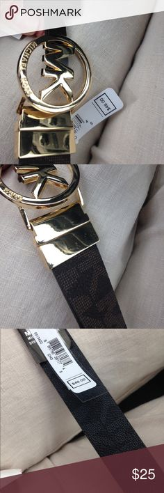 MK Reversible belt NWT but tried to show the minor blemishes on gold buckle from travel. Michael Kors Accessories Belts