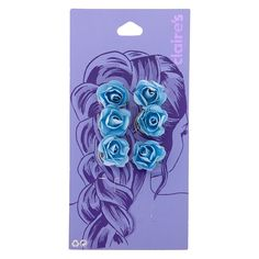 Shop Claire's for the latest trends in jewelry & accessories for girls, teens, & tweens. Find must-have hair accessories, stylish beauty products & more. Flowers In Hair, Blue Flowers, Flower Hair, Barbie Doll Set, Metal Wings, Beautiful Black Babies, Pink Sale, Pearl Headpiece, Mini Roses