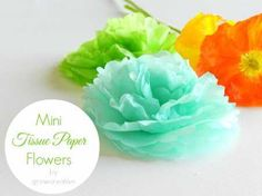 Mini Tissue Paper Flowers Using Paper Punch
