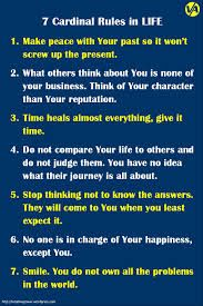 7 cardinal rules for life - Google zoeken