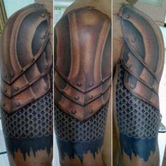 Sleeve Armor Of God Tattoo For Gentlemen