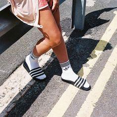 ADIDAS sliders and socks