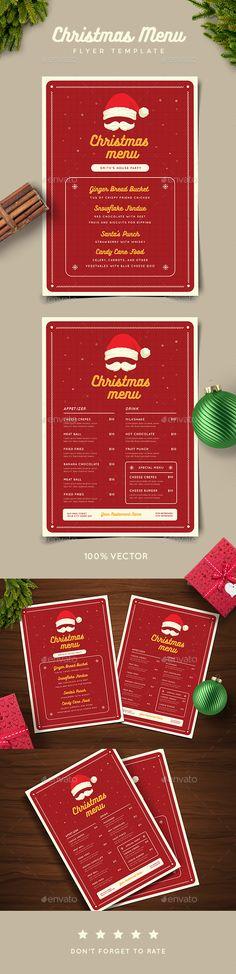 #Christmas Menu - #Food #Menus Print Templates