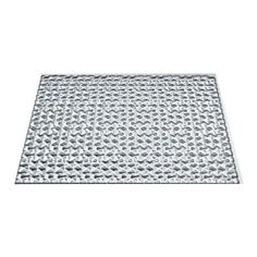 Fasade Terrain - 18 in. x 24 in. PVC Decorative Tile Backsplash in Brushed Aluminum - B67-08 at The Home Depot