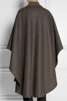 The Row | Tonpell reversible virgin wool and angora-blend cape | NET-A-PORTER.COM