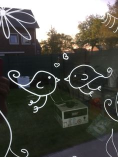 Liquid Chalk Markers, Chalk Pens, Chalk Art, Window Markers, Chalk Drawings, White Chalk, Mirror Art, Window Art, Window Stickers