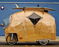 Electric car designed by San Francisco builder Jay Nelson (from p. 181 of Tiny Homes by Lloyd Kahn)