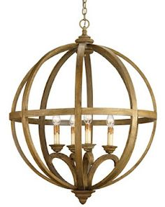 Currey and Company Axel Orb Chandelier