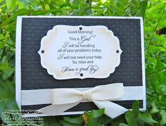 This beautiful card is designed by Sheri. She used the freebie offered here. When the freebie expires, it can be found in the Dollar Digi Deal section at Whimsy Stamps under Inspiration-Good Morning!   To visit Sheri please click here www.funwithpaper.blogspot.ca Whimsy Stamps, Good Morning, Place Card Holders, Inspirational, Frame, Day, Cards, Beautiful, Design