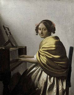 Johannes Vermeer was born on this day (31st October), 1632, A young woman seated at the virginals was sold at Sotheby's in 2004 for over £16million. See how the work was authenticated here - http://www.sothebys.com/en/news-video/blogs/all-blogs/past-masters/2013/10/vermeer-revisited-i.html