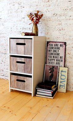 Šuflíková komoda ARLEN BROWN You Make Me Happy, You Are My Sunshine, Filing Cabinet, Magazine Rack, Storage, Brown, Handmade, Furniture, Home Decor