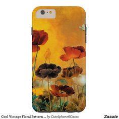 Cool Vintage Floral Pattern Case Cover Tough iPhone 6 Plus Case
