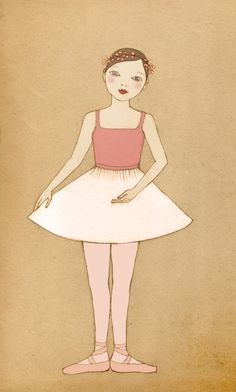 Ballerina Deluxe Edition Print  of original illustration