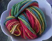 Rainbow Handspun Yarn