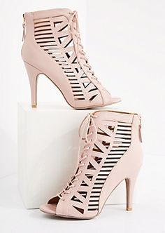 b31f70d7d0f8 image of Pink Geo Caged Stiletto Shootie. FH Brazilian Hair Weave · High  Heels for African Ladies