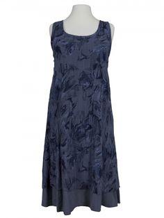 Damen Kleid Blütenprint, blau von Diana bei www.meinkleidchen.de