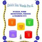Dear Teachers, Parents, and those of you who work with children,   I have created this Pre-K packet of 40 Dolch Site Words for different learning styles and ability levels that are found in diversified classrooms all over the country.