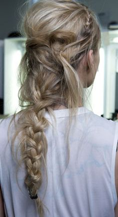 love a messy braid
