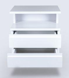 biała szafka lakierowana