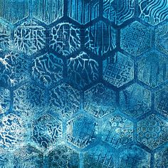 Printing with Gell Arts®: Gelli Monoprinting with Molding Paste Texture Plates