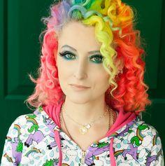 The rainbow hair lady.