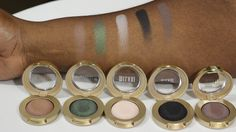Milani Cosmetics Bella Gel Powder Eyeshadow Swatches! @milanicosmetics
