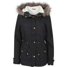 Abercrombie & Fitch Sherpa Lined Military Parka ($120) ❤ liked on ...