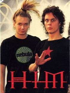 Ville Valo (on right) and Mikko Lindstrom (left).