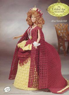Alva Vanderbilt Outfit for Barbie Annie's Gilded Age Crochet Pattern RARE