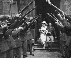 Wedding Ceremony: First Lieutenant Eula M. Awbrey & First Lieutenant Arthur B. Sforza, Limbourg (Liège), Belgium (15 June 1945) ~