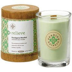 Introducing Root Candles Scented Soy Candle In Relieve Eucalyptus Menthol 65 Oz Get Your Las