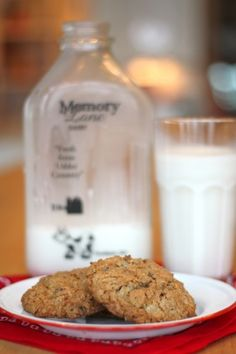 I have that milk bottle.  Memory Lane milk.  So sweet ! (cookie recipe from Sugar Pie Farmhouse)