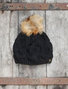 Handmade recycled American fox fur pompom knitted by bangbangfur, $60.00