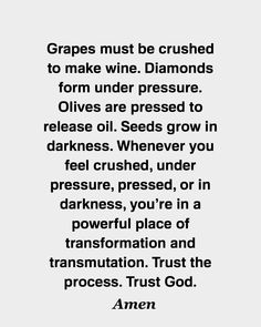 Pressure in life causes us to grow in faith. Trust God & trust the process. Bible Verses Quotes, Faith Quotes, Me Quotes, Motivational Quotes, Inspirational Quotes, Quotes On Peace, Godly Quotes, Prayer Quotes, Spiritual Quotes
