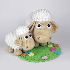 Sheep Wolli and Lamb Lucky amigurumi pattern by DioneDesign