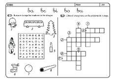 Fichas infantiles para aprender a leer y aprender a escribir con la letra B. Dibujos Lectoescritura con letra B para colorear. Lectoescritura_B_15