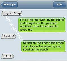 Hilarious Text About Boyfriend vs. Dog