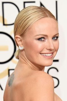 Make Malin Akerman's slick low pony your go-to office-to-drinks look of 2016