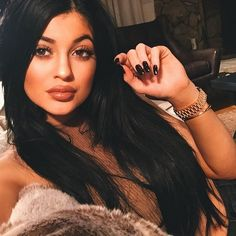 Kylie Jenner Changes Her Hair Extensions Color to Jet Black