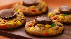 Double delicious!  Nestle a bite-size peanut butter cup in a just-baked peanut butter cookie.