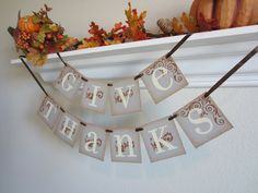 2015 Thanksgiving Banner Decoration GIVE THANKS - 2015 Thanksgiving Decor, thanksgiving decor, thanksgiving banner