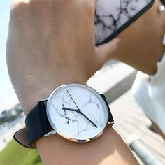 Have you discover our Carrara Marble collection already? Pick your favorite color for summer☀ Men's Watches, Watches For Men, Carrara Marble, Omega Watch, Favorite Color, Summer, Leather, Accessories, Collection