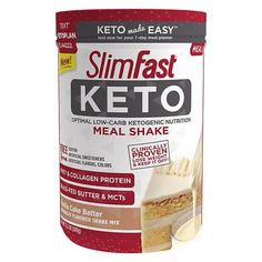 SlimFast Keto Meal Replacement Shake Powder Vanilla Cake Batter Ounce Pack of 1 Buy Now Slim Fast, Keto Foods, Ketogenic Meals, Shake Recipes, Keto Recipes, Cake Batter Shake, Tartiflette Recipe, Keto Meal Replacement, Keto Diet For Beginners