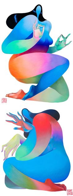 Colossal Art, Psychedelic Art, Art Drawings Sketches, Color Combos, Vibrant, Animation, Poses, Art Art, Illustration