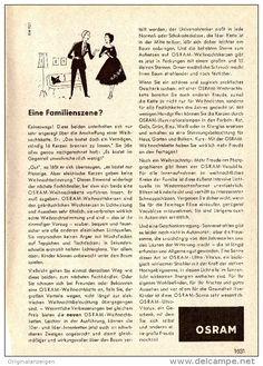 Werbung - Original-Werbung/ Anzeige 1958 - OSRAM WEIHNACHTSKETTEN - ca. 120 x 170 mm