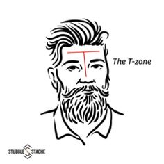 The T-zone | stubble and stache