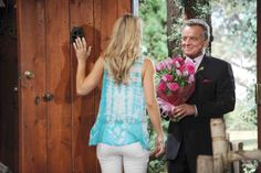 Flowers for Sharon? Ian Ward, Ray Wise, Soap Stars, Young And The Restless, Soaps, Gossip, Ruffle Blouse, Flowers, Women