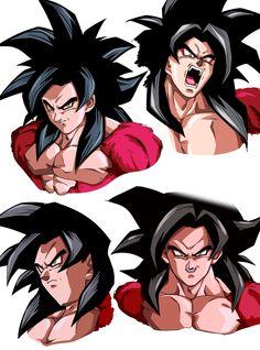 Goku ssj4 arte de toei animation