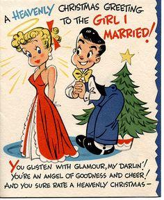 Greetings blah blah to the girl I married but leering perv drool over my secretary!